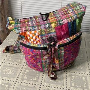 Ladies Soft Hippie Cloth Backpack Large